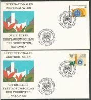 UNO WIEN 1981 Mi-Nr. 21/22 FDC - FDC