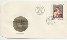 1973 CZECHOSLOVAKIA FDC Religious ART Stamps Cover Religion - FDC