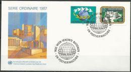 UNO WIEN 1987 Mi-Nr. 73/74 FDC - FDC