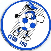Sticker Voetbal  Club Brugge CLUB 100 Jaar   10 Cm      I 3269 - Autocollants