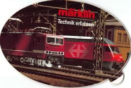Sticker Reclame Marklin  Märklín Technik Erfahren Eisenbahn - Ferroviaire - Railway - Train - Aufkleber   I 3276 - Pegatinas