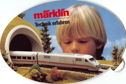 Sticker Reclame Marklin ICE   Märklín Technik Erfahren Eisenbahn - Ferroviaire - Railway - Train - Aufkleber   I 3277 - Pegatinas