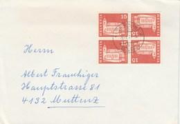 1973 Basel SWITZERLAND Multi TETE BECHE Stamps COVER - Switzerland