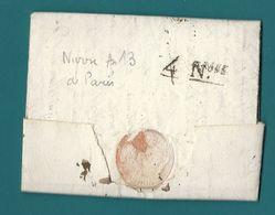 Cachet D'arrivée De NANTES (Loire Inférieure). Calendrier Républicain. 4 NIVOSE (An 11) - Postmark Collection (Covers)