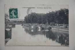 MONTCHANIN-les-MINES-bois Bretoux-bassin Du Canal-peniches A Quai - Villefranche-sur-Saone