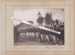 METZ 1899 - Photo Originale De L'occupation Allemande, Un Régiment De  Poméraniens ( De Retour De Saint Privat ) Moselle - Lugares