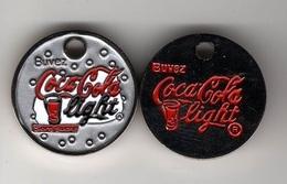 Jeton  De  Caddie  Argenté  Boisson, Buvez  Coca - Cola  Light  Verso  Buvez Coca-Cola  Light  Recto  Verso - Jetons De Caddies