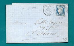 Paris - Mention Variété 42 / Planchage 42D3.  Ceres N°60 - Postmark Collection (Covers)