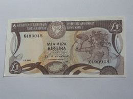 1 One Pound 1982 Central Bank Of Cyprus - CHYPRE  **** EN  ACHAT IMMEDIAT **** - Chypre