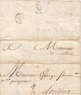 "France Great Britain 1698 Entire Letter Handwritten ""de Morlaix"" Not In Lenain, Sent To London, Bishop Mark (q123) - Marcophilie (Lettres)"