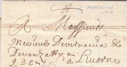 France Tuscany Toscana 1700 Entire Letter Marseille To Livorno (q124) - ....-1700: Précurseurs