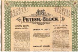 Action Ancienne -Petrol - Block  - Titre De 1924 - Pétrole