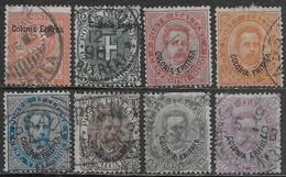 Italia Italy 1893 Colonie Eritrea Umberto I Soprastampati 8val Sa N.2-9 US - Eritrea
