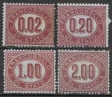 Italia Italy 1875 Regno Servizio Di Stato 4val Sa N.SE1,SE3,SE5-SE6 Nuovi MH/SG */SG - 1861-78 Victor Emmanuel II