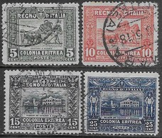 Italia Italy 1910 Colonie Eritrea Soggetti Africani D13 Sa N.34-38 Completa US - Eritrea