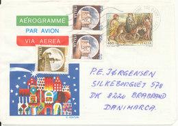 Italy Aerogramme 1982 Sent To Denmark - Posta Aerea