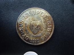 CHYPRE : 20 CENTS  1992   KM 62.2    TTB+ - Cyprus