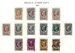 ANGOLA, Stamp Duty, PB 162/79 Disc., */o M/U, F/VF - Revenue Stamps