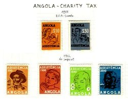 ANGOLA, Charity Tax, PB 14/18A, * MLH, F/VF - Revenue Stamps