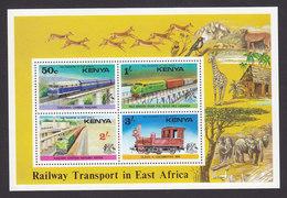 Kenya, Scott #67a, Mint Never Hinged, Trains, Issued 1976 - Kenya (1963-...)