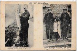CPA Pêche à La Ligne Non Circulé Publicité Fil Diamant Reims Ay Marne - Pesca