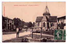 0884 - Droyes ( Hte-Marne ) - L'Eglise , La Mairie - Aubertin Bur. édit. - - France