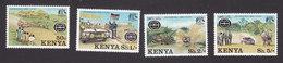 Kenya, Scott #76-79, Mint Hinged, Safari Rally, Issued 1977 - Kenya (1963-...)