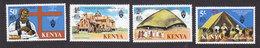 Kenya, Scott 80-83, Mint Hinged, Church Of Ugana, Issued 1977 - Kenya (1963-...)