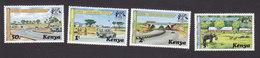 Kenya, Scott #94-97, Mint Hinged, Kenya-Ethopia Border, Issued 1977 - Kenya (1963-...)