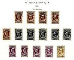 PORTUGUESE INDIA, Stamp Duty, PB 285/91, 293/300, */o M/U, F/VF - Revenue Stamps