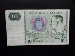 SUEDE : 10 KRONOR  1977  P 52d    TTB - Suède