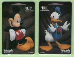 New Zealand - 1998 Disney - Mickey & Donald III - Set (2) - NZ-D-133/134 - Mint - New Zealand