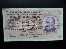 SUISSE : 10 FRANKEN   26.10.1961   P 45g   Signature 41   TTB - Suisse