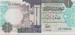 LIBYA=N/D   1/2  DINAR     P-53    UNC - Libya