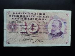 SUISSE : 10 FRANKEN   30.6.1967   P 45m   Signature 44    Presque TTB * - Suisse