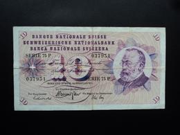 SUISSE : 10 FRANKEN   10.2.1971   P 45q   Signature 43     TTB - Suisse