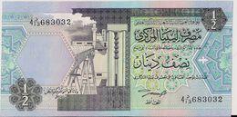 LIBYA=N/D   1/2  DINAR     P-58    UNC - Libya
