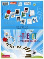 """Collector 2013  """"CHARLES TRENET - CENTENAIRE - Feuillet De 10 Timbres Autocollants Lettre Verte 20g"""" (sous Blister) - France"""