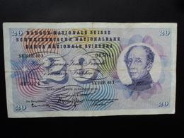 SUISSE : 20 FRANKEN   23.12.1965   P 46m   Signature 44     TTB * - Suisse