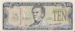 LIBERIA=2006    10  DOLLARS     P-27    UNC - Liberia