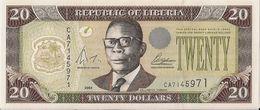 LIBERIA=2004    20  DOLLARS     P-28    UNC - Liberia