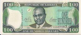 LIBERIA=2003    100  DOLLARS     P-30    UNC - Liberia