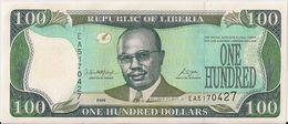 LIBERIA=2008    100  DOLLARS     P-30    UNC - Liberia