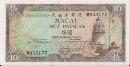 MACAU=1984   10  PATACAS     P-59a    UNC - Macau
