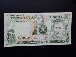 TANZANIE : 10 SHILINGI  ND 1978   P 6a    TTB+ - Tanzanie