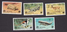 Kenya, Scott #89-93, Mint Hinged, Wildlife, Issued 1977 - Kenya (1963-...)