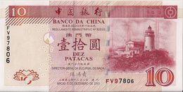 MACAU=2001   10  PATACAS     P-102    UNC - Macau