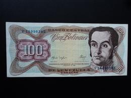 VENEZUELA : 100 BOLIVARES    3.2.1987   P 66a    TTB+ - Venezuela