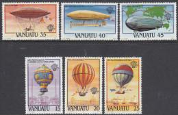 VANUATU, 1983 MANNED FLIGHT 6 MNH - Vanuatu (1980-...)