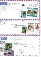 Libyen, Ca. 1990, 3 Reko-Luftpost Kuverts Mit Unterschiedl. Mehrfach Frankaturen (16024E) - Libyen